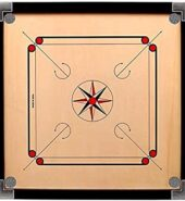 Carrom Board with Coins, Striker, and Powder (Brown)