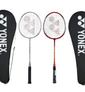 Yonex GR 303 Aluminium Blend Badminton Racquet with Full Cover, Set of 2